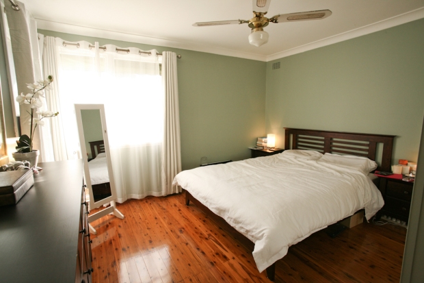 After -  Sage green paint