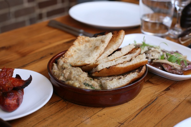 Hummus and Grilled Flatbread