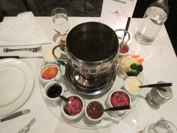Asian inspired fondue - really it was just hot pot.
