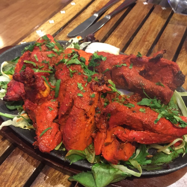Tandoori chicken (I think it was $22)